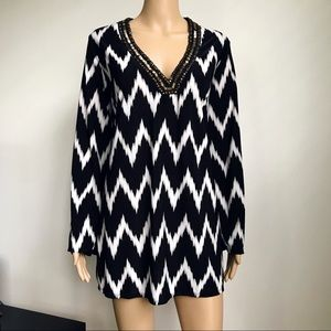 La Blanca Embellished zigzag beach cover-up Dress